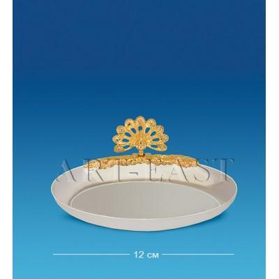 Блюдце-овал с павлином 12x9,5x4 см., Crystal Temptations, США
