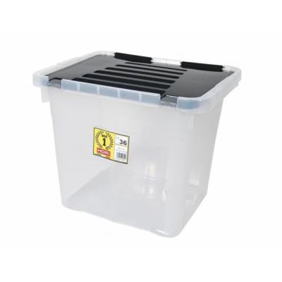 Ящик-контейнер пластиковый с крышкой 36 л., 43х35х35.5см., Италия