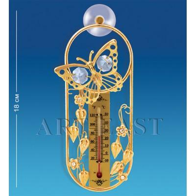 "Термометр на липучке ""Бабочка"" 16,5x7x2,5 см., Crystal Temptations, США"