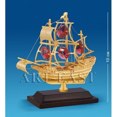 "Фигурка ""Корабль на подставке"" 10x4x10 см., с цвет. крист. Crystal Temptations, США"