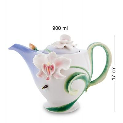 """Чайник заварочный """"Орхидея"""" 900 мл., фарфор Pavone, Италия"""