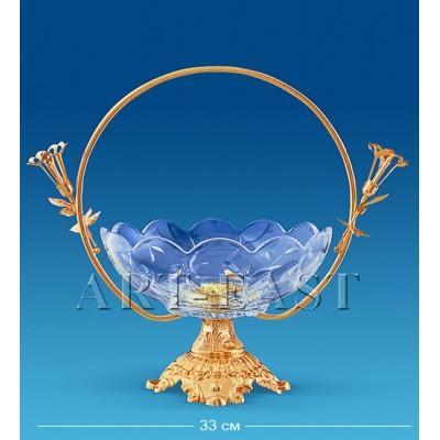 Фруктовница хрустальная 33x21,5x31 см., Crystal Temptations, США