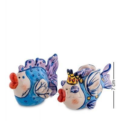 """Набор для специй соль-перец """"Влюбленные рыбки"""" 12x6x7 см., Blue Sky, Италия"""