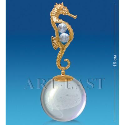 "Фигурка на шаре ""Морской конек"" 6x6x16,5 см., Crystal Temptations, США"