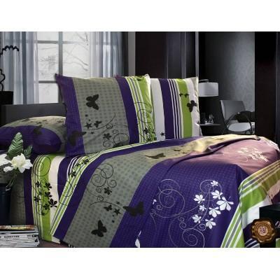 Комплект постельного белья Евро, Бязь-100% хлопок (ЕТ0222)