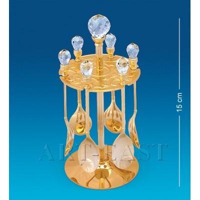 Набор десертных ложек на подставке Crystal Temptations, США
