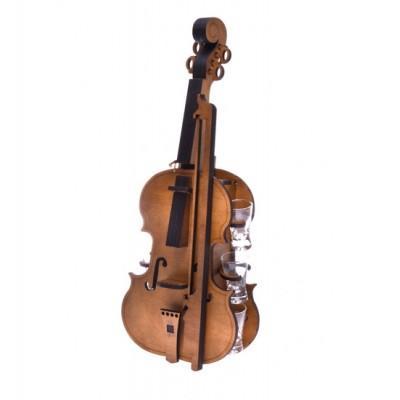 Мини бар Скрипка с рюмками 495*200*230мм