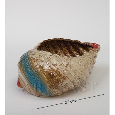 Ваза-кашпо Ракушка 27 см., керамика