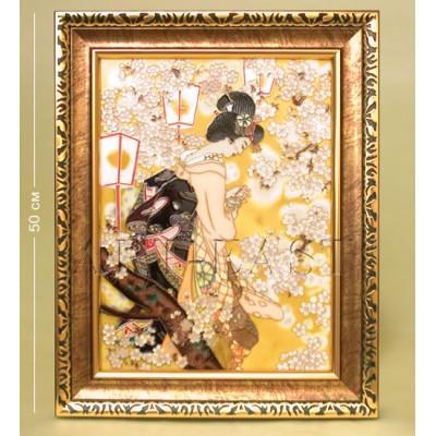 """Картина """"Гейша"""", 40x3x50 см., фарфор Pavone, Италия"""