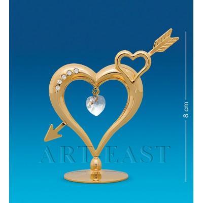 """Фигурка """"Сердце со стрелой"""" 7x3x8 см., Crystal Temptations, США"""