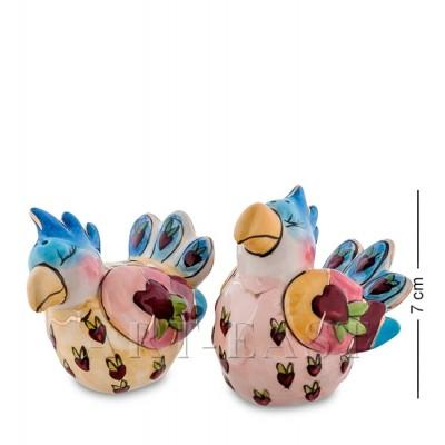 """Набор для специй соль-перец """"Влюбленные попугаи"""" 7x6x7 см., Blue Sky, Италия"""
