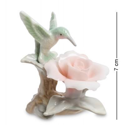 """Фигурка """"Колибри на розе"""" 6x6x8 см., Pavone, Италия"""