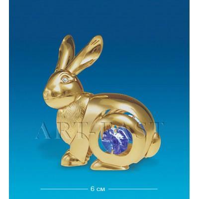 "Фигурка ""Кролик"" 6x4x7 см., с цвет. крист. Crystal Temptations, США"