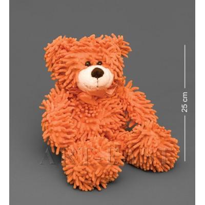 Мягкая игрушка медведь с бантиком - оранжевый 35см., Color Rich