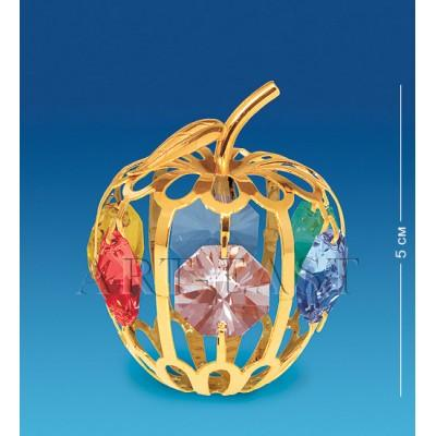 "Фигурка ""Яблоко"" 4x4x5 см., с цвет. крист. Crystal Temptations, США"