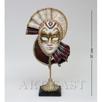 "Фигурка ""Венецианская маска"", 20x9,5x37 см., полистоун Noble Style"