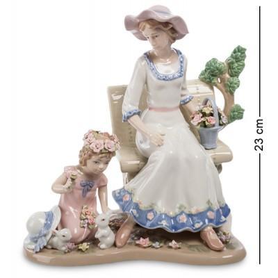 """Композиция """"Дама с дочерью"""", 25x17x23 см., Pavone, Италия"""