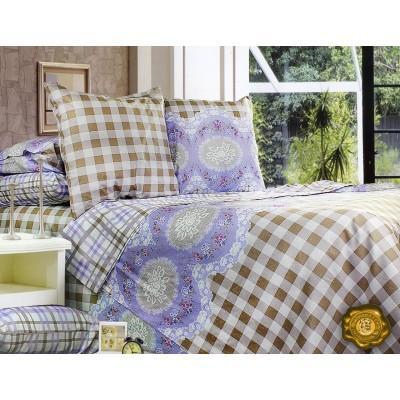 Комплект постельного белья Полуторный, Бязь-100% хлопок (1.5-сп.ЕТ0398)