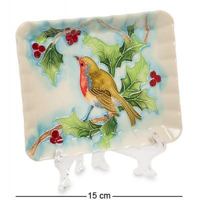 """Тарелка декор """"Дивный сад"""" 15x7,5x15 см., фарфор Pavone, Италия"""