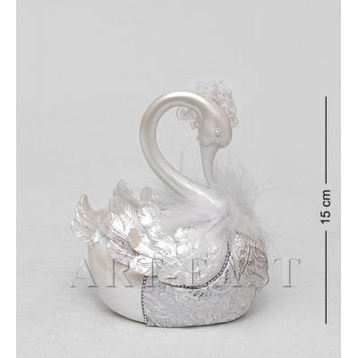 "Статуэтка-копилка ""Белый лебедь"" 8x12x15 см., полистоун"