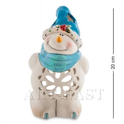 """Подсвечник """"Снеговик"""", 12x13x20 см., фарфор Pavone, Италия"""