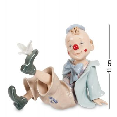 """Фигурка """"Клоун с голубем"""", 15x8,5x12 см., Фарфор Pavone, Италия"""