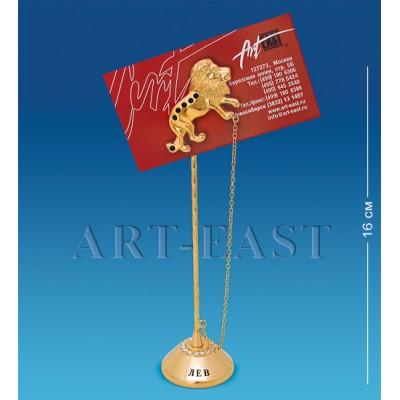 """Держатель для визиток """"Лев"""" 4,5x4x16 см., Crystal Temptations, США"""