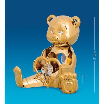 """Фигурка """"Мишка с сердцем"""" 5,5x4x5 см., Crystal Temptations, США"""