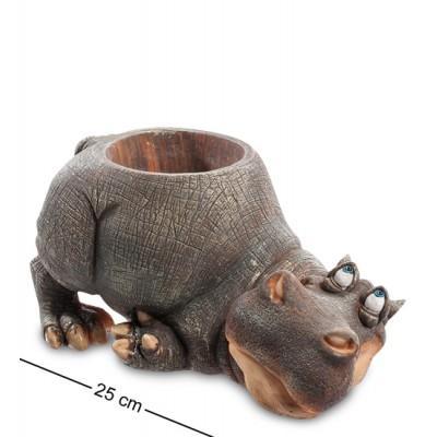"""Статуэтка-кашпо """"Бегемот"""" 25x15,5x12,5 см., полистоун Sealmark, США"""