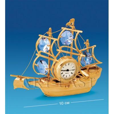 """Фигурка с часами """"Корабль"""", 10 см., Crystal Temptations, США"""