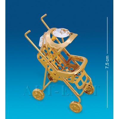 """Фигурка """"Детская коляска"""" 6x3x7,5 см., Crystal Temptations, США"""