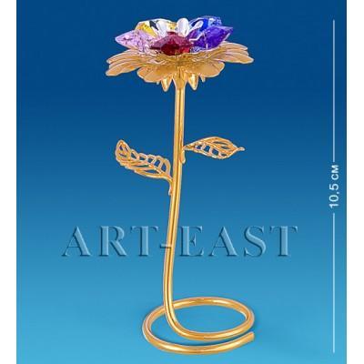"Фигурка ""Цветок"" 5x4,5x10,5 см., с цвет. крист. Crystal Temptations, США"