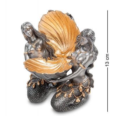 """Ваза """"Ракушка с Русалками"""", 11,5х8х13 см., полистоун Veronese, Гонконг"""