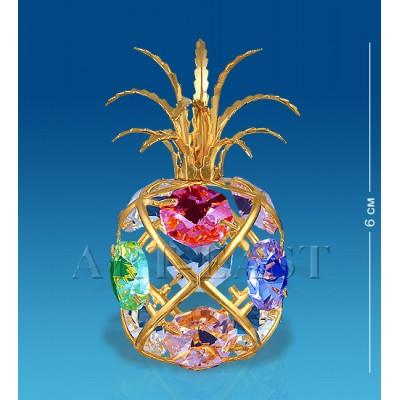 "Фигурка ""Ананас"" 4x4x6 см., с цвет.камн. Crystal Temptations, США"