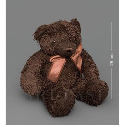Мягкая игрушка медведь с бантиком - коричневый 46см., Color Rich