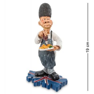 """Фигурка """"Шеф-повар Англия"""" 8x13x19 см., полистоун Warren Stratford Канада"""