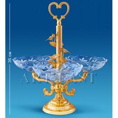 Фруктовница на 3 чаши 14х35х10,5 см., Crystal Temptations, США