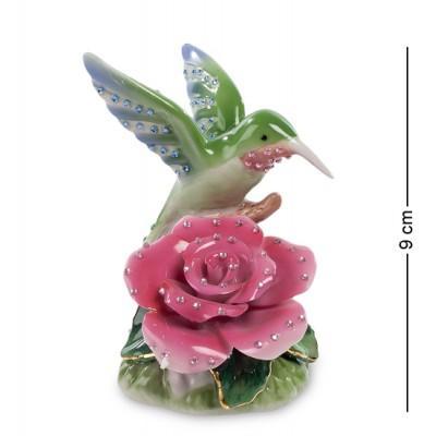 """Фигурка """" Колибри на розе"""" 9 см., Pavone, Италия"""
