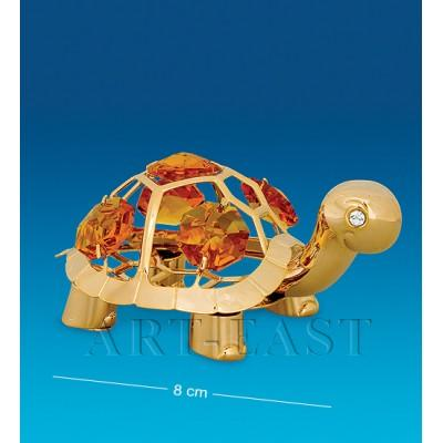 "Фигурка ""Черепаха"" 8x5x3,5 см., с цвет. крист. Crystal Temptations, США"