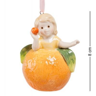 "Колокольчик ""Девочка-апельсинка"" 6x5x8 см., Pavone, Италия"