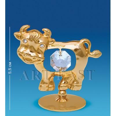 """Фигурка на подставке """"Бык"""" 6x3,5x5,5 см., Crystal Temptations, США"""