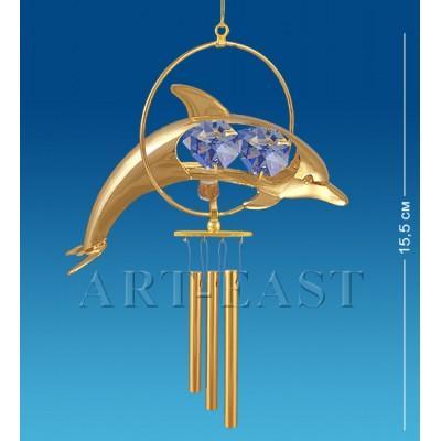 """Поющий ветерок """"Дельфин"""" 9x3,5x17 см., Crystal Temptations, США"""