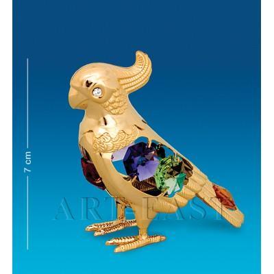 "Фигурка ""Попугай"" 7,5x3,5x7 см., с цвет. крист. Crystal Temptations, США"