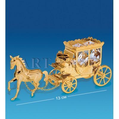 """Фигурка """"Карета с лошадью"""" 13x3,5x5,5 см., Crystal Temptations, США"""