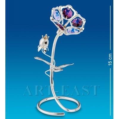 "Фигурка ""Вьюнок"" 7x6,5x15 см., посеребр. с цвет. крист. Crystal Temptations, США"