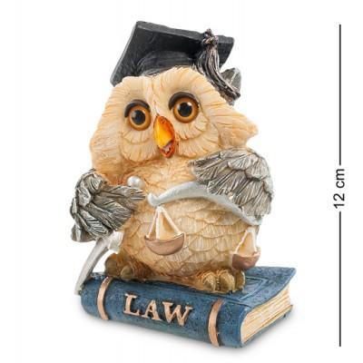 "Фигурка ""Сова-судья"" 8x7,5x11,5 см., полистоун Sealmark, США"