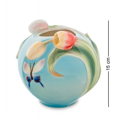 "Статуэтка-ваза ""Бабочки"" 15 см., фарфор Pavone, Италия"