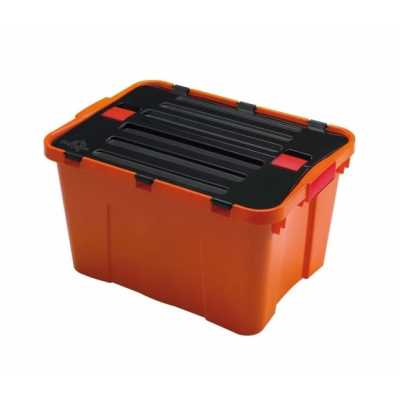 Ящик-контейнер пластиковый с крышкой 80 л., 59х46х40см., Италия