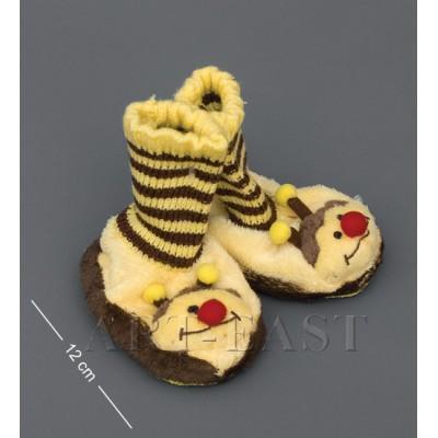 """Детские тапочки-зверюшки """"Пчелка""""детские 13х6х13 см., Color Rich"""
