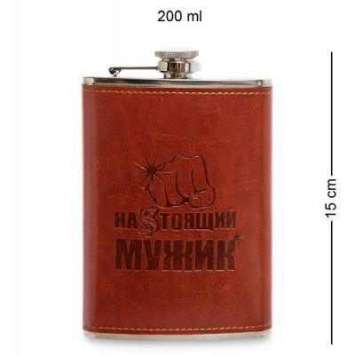 """Фляжка 200 мл """"Настоящий мужик"""" GT-31"""